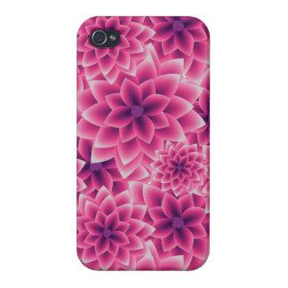 Summer colorful pattern purple dahlia iPhone 4 case