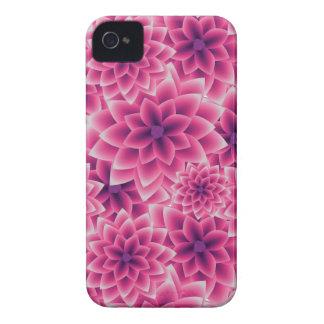 Summer colorful pattern purple dahlia iPhone 4 Case-Mate case