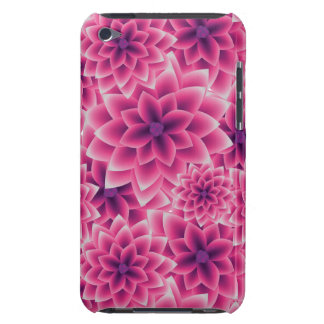Summer colorful pattern purple dahlia iPod touch cases