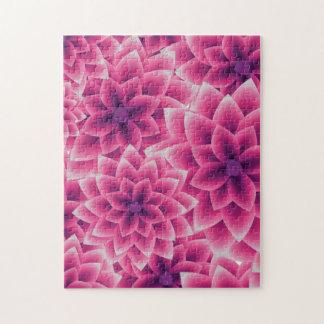 Summer colorful pattern purple dahlia jigsaw puzzle