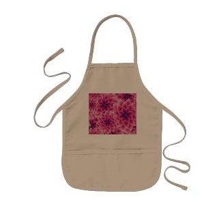 Summer colorful pattern purple dahlia kids apron