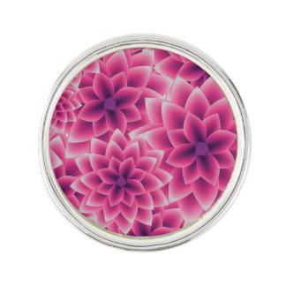 Summer colorful pattern purple dahlia lapel pin