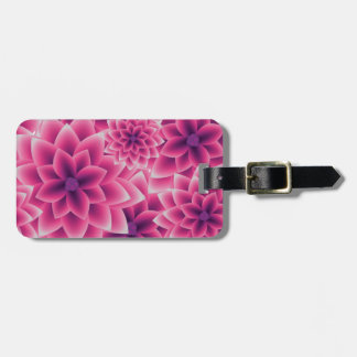 Summer colorful pattern purple dahlia luggage tag