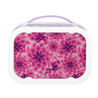 Summer colorful pattern purple dahlia lunch box