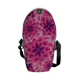 Summer colorful pattern purple dahlia messenger bags