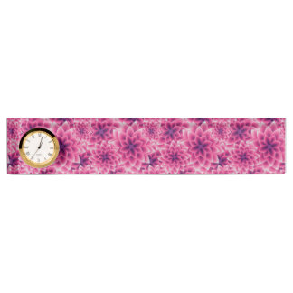 Summer colorful pattern purple dahlia name plate