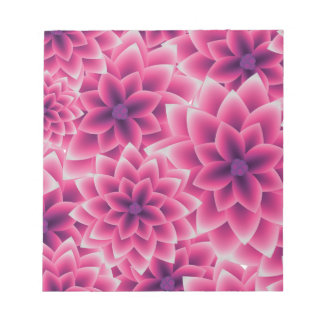 Summer colorful pattern purple dahlia notepad