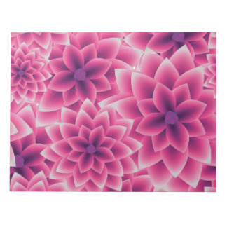 Summer colorful pattern purple dahlia notepad