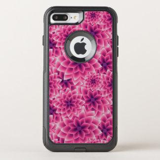 Summer colorful pattern purple dahlia OtterBox commuter iPhone 7 plus case