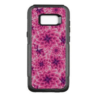 Summer colorful pattern purple dahlia OtterBox commuter samsung galaxy s8+ case