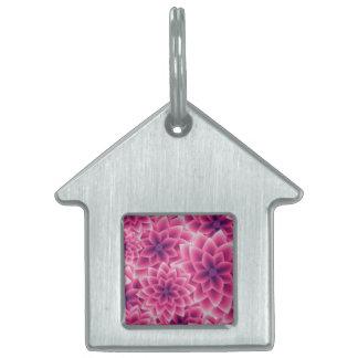 Summer colorful pattern purple dahlia pet ID tag