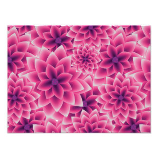 Summer colorful pattern purple dahlia photo print