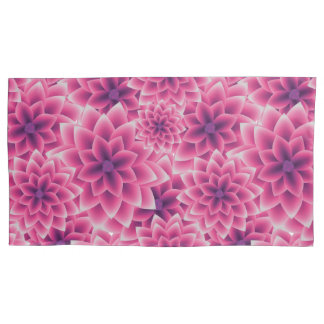 Summer colorful pattern purple dahlia pillowcase