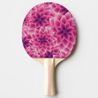 Summer colorful pattern purple dahlia Ping-Pong paddle