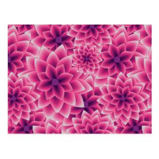Summer colorful pattern purple dahlia postcard
