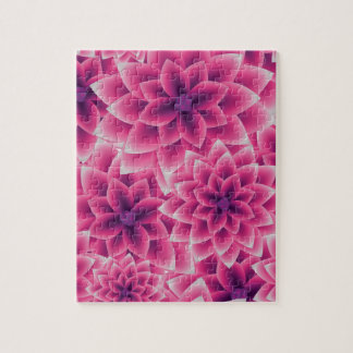 Summer colorful pattern purple dahlia puzzle