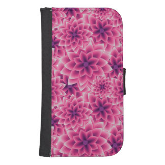 Summer colorful pattern purple dahlia samsung s4 wallet case