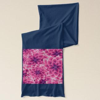 Summer colorful pattern purple dahlia scarf