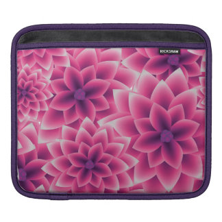 Summer colorful pattern purple dahlia sleeves for iPads