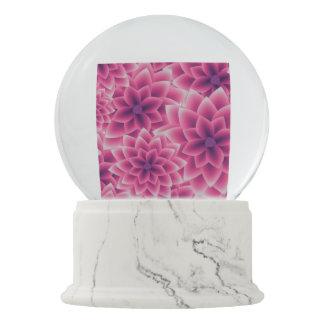 Summer colorful pattern purple dahlia snow globe