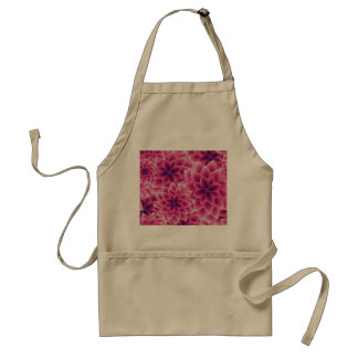Summer colorful pattern purple dahlia standard apron