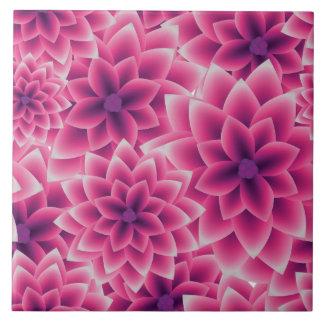 Summer colorful pattern purple dahlia tiles
