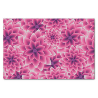 Summer colorful pattern purple dahlia tissue paper