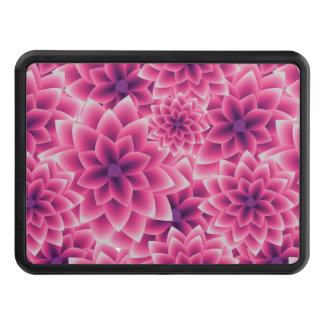 Summer colorful pattern purple dahlia trailer hitch cover