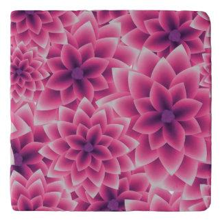 Summer colorful pattern purple dahlia trivet