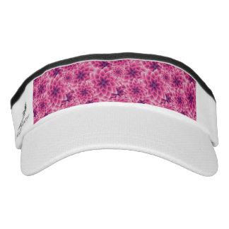 Summer colorful pattern purple dahlia visor