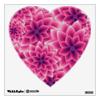 Summer colorful pattern purple dahlia wall sticker