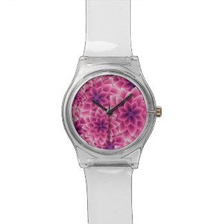Summer colorful pattern purple dahlia watch