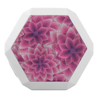 Summer colorful pattern purple dahlia white bluetooth speaker
