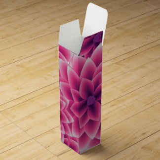 Summer colorful pattern purple dahlia wine box