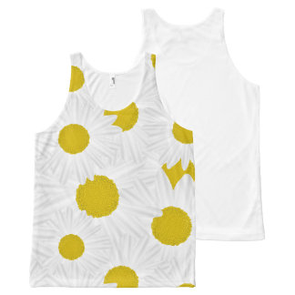 Summer colorful pattern purple marguerite All-Over-Print tank top