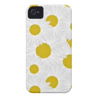 Summer colorful pattern purple marguerite Case-Mate iPhone 4 case