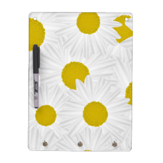 Summer colorful pattern purple marguerite dry erase board