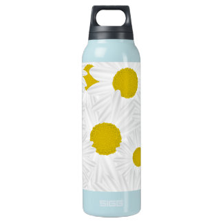 Summer colorful pattern purple marguerite insulated water bottle