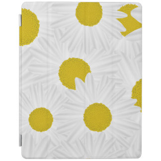 Summer colorful pattern purple marguerite iPad cover