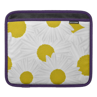 Summer colorful pattern purple marguerite iPad sleeve