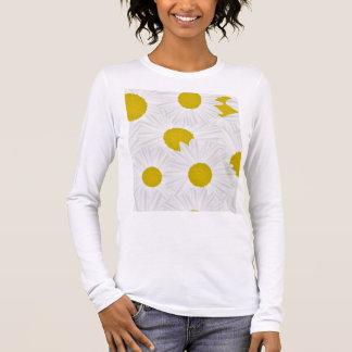 Summer colorful pattern purple marguerite long sleeve T-Shirt