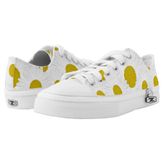 Summer colorful pattern purple marguerite Low-Top sneakers