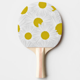 Summer colorful pattern purple marguerite Ping-Pong paddle