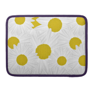 Summer colorful pattern purple marguerite sleeve for MacBook pro
