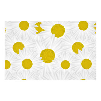 Summer colorful pattern purple marguerite stationery