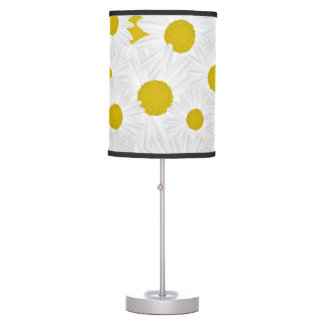 Summer colorful pattern purple marguerite table lamp