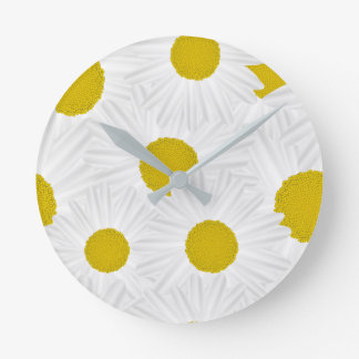 Summer colorful pattern purple marguerite wall clocks