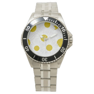 Summer colorful pattern purple marguerite watch