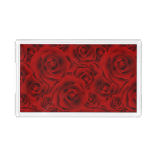 Summer colorful pattern rose acrylic tray