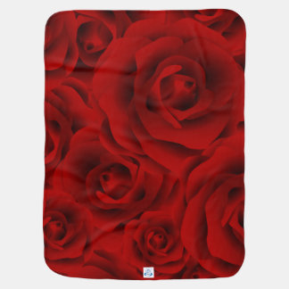Summer colorful pattern rose baby blanket